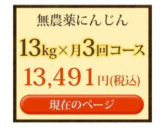 無農薬にんじん13kg×3回