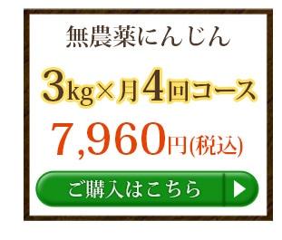 無農薬にんじん3kg×4回