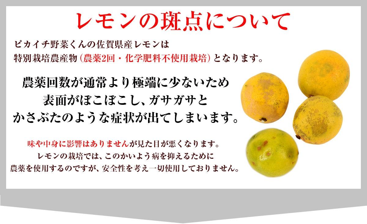 レモンの斑点について