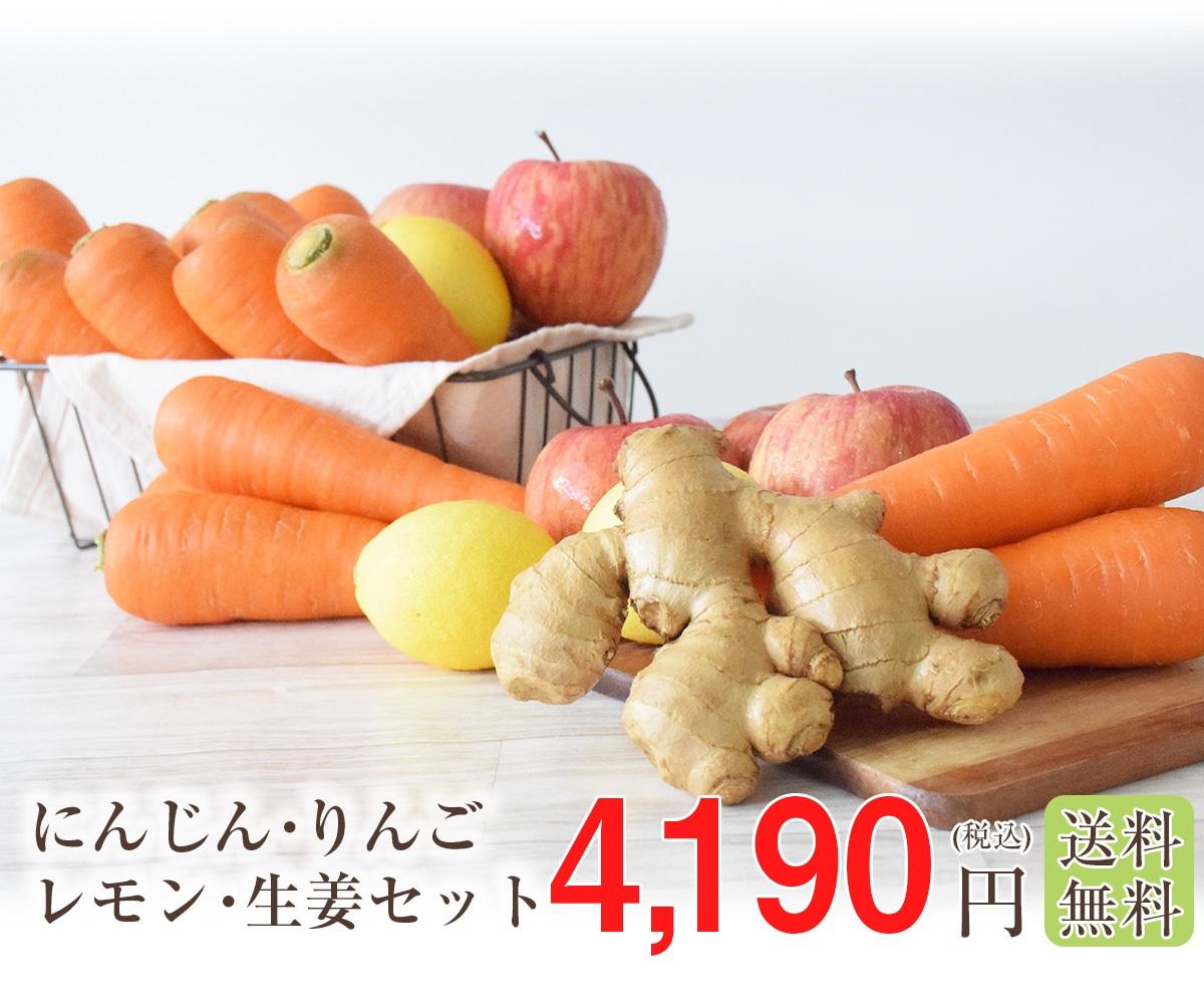 にんじん・りんご・レモン・生姜セット