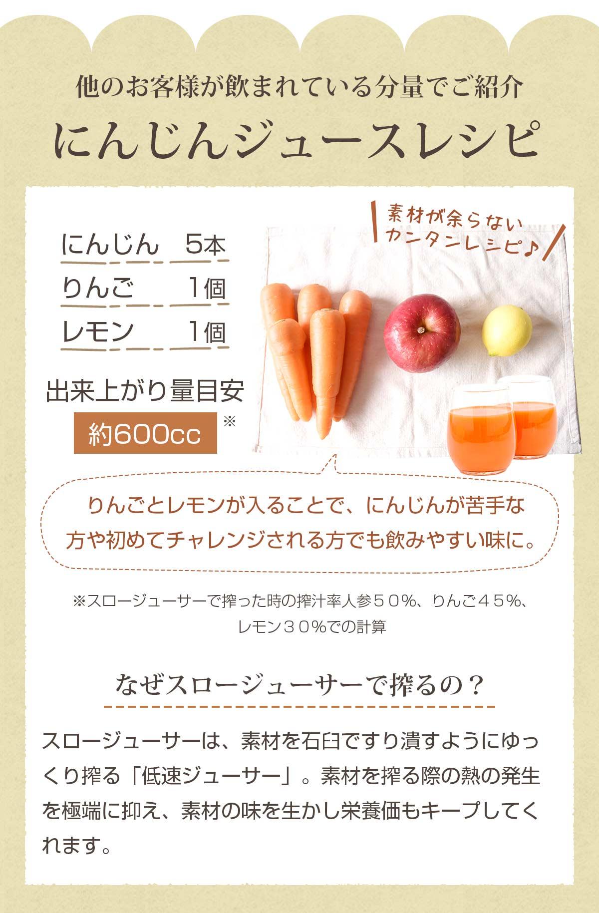 にんじんジュースレシピ