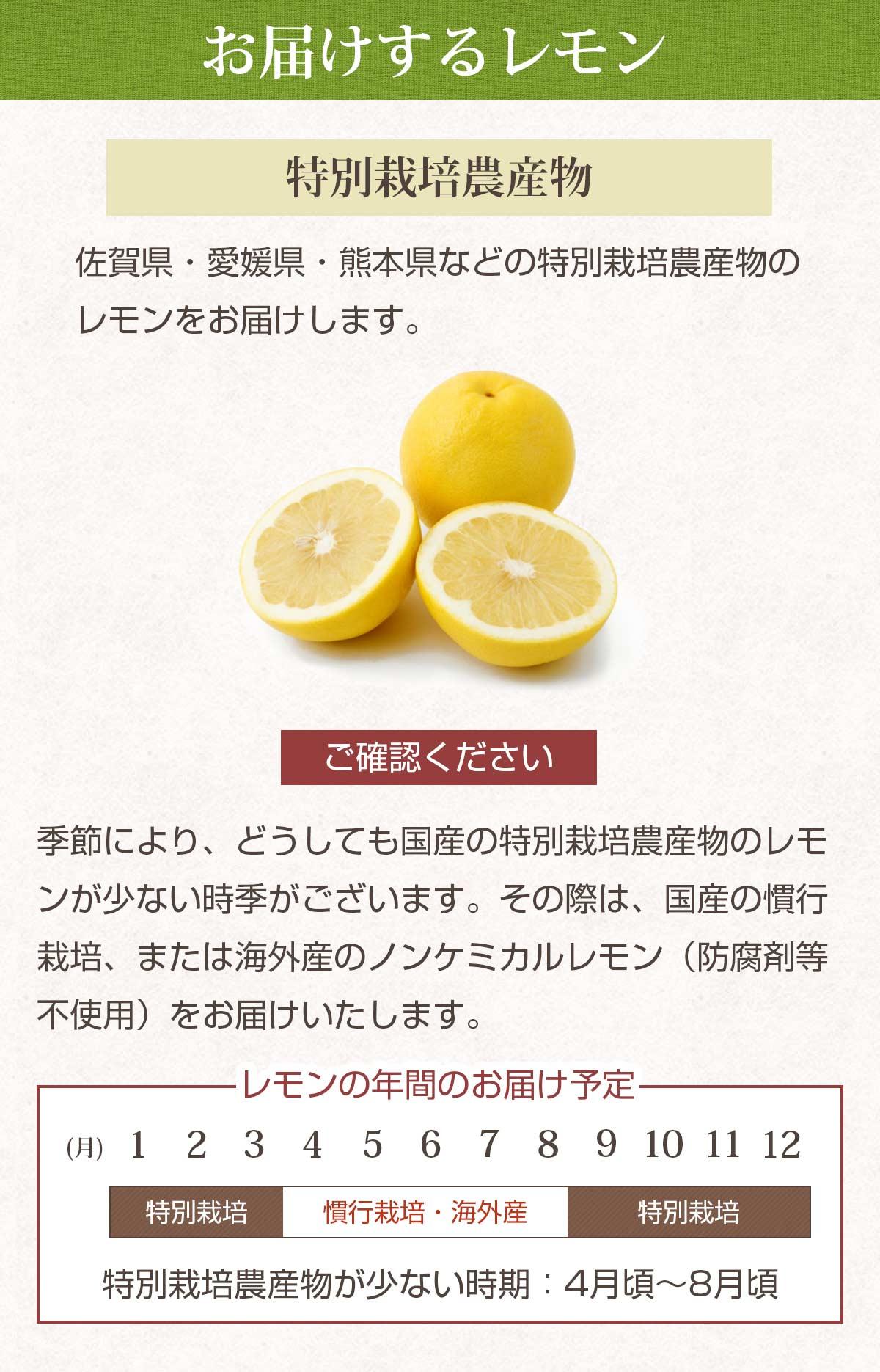 特別栽培農産物レモン