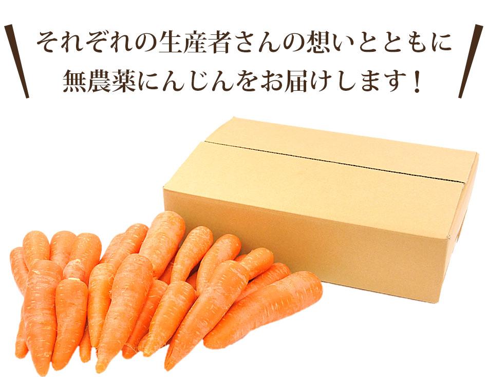 それぞれの生産者さんの想いとともに無農薬にんじんをお届けします!