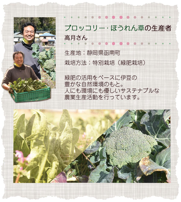 ブロッコリー・ほうれん草の生産者 高月さん