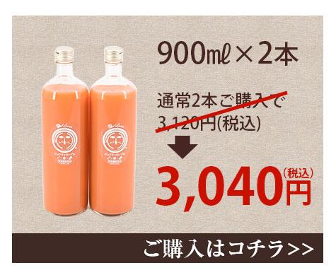 常温ジュース900ml×2本