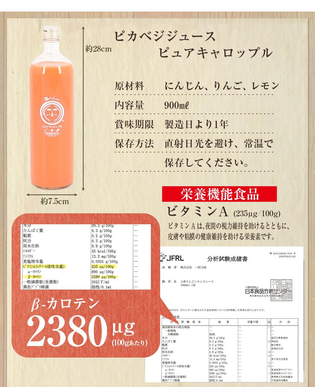 にんじんりんごレモンジュース商品内容
