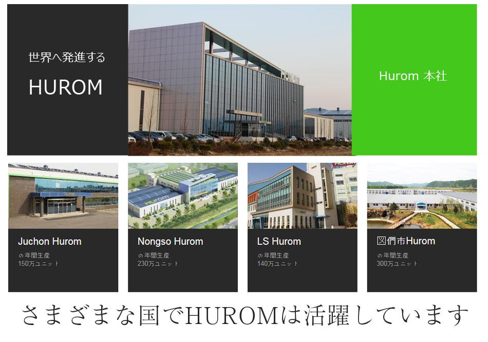 さまざまな国でHUROMは活躍しています