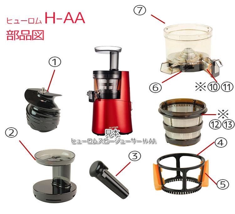 ヒューロムH-AA部品図1