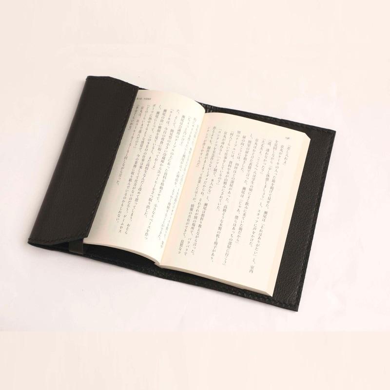 革のブックカバー(文庫本サイズ ブラック) by みどり工房 3,690円 (税・送料込)