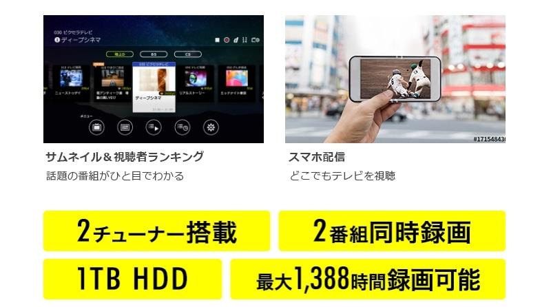 Android TV™でテレビ視聴・録画ができる