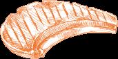 焼いた牛肉のイラスト