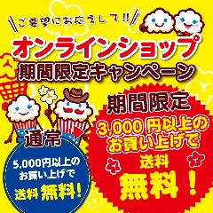期間限定!!オンラインショップ 3000円で送料無料