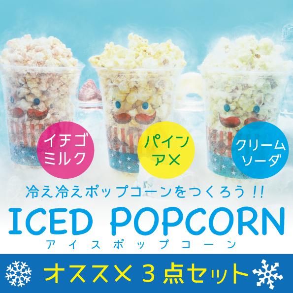 《ICED POPCORN》オススメ3点セット