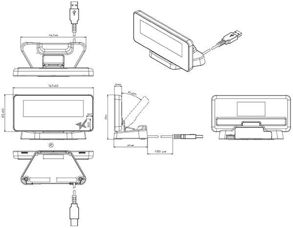 外径寸法図 SCD222U
