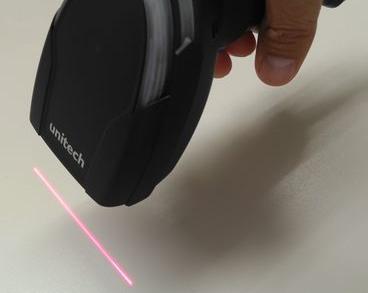 Unitech MS851のレーザ照射時