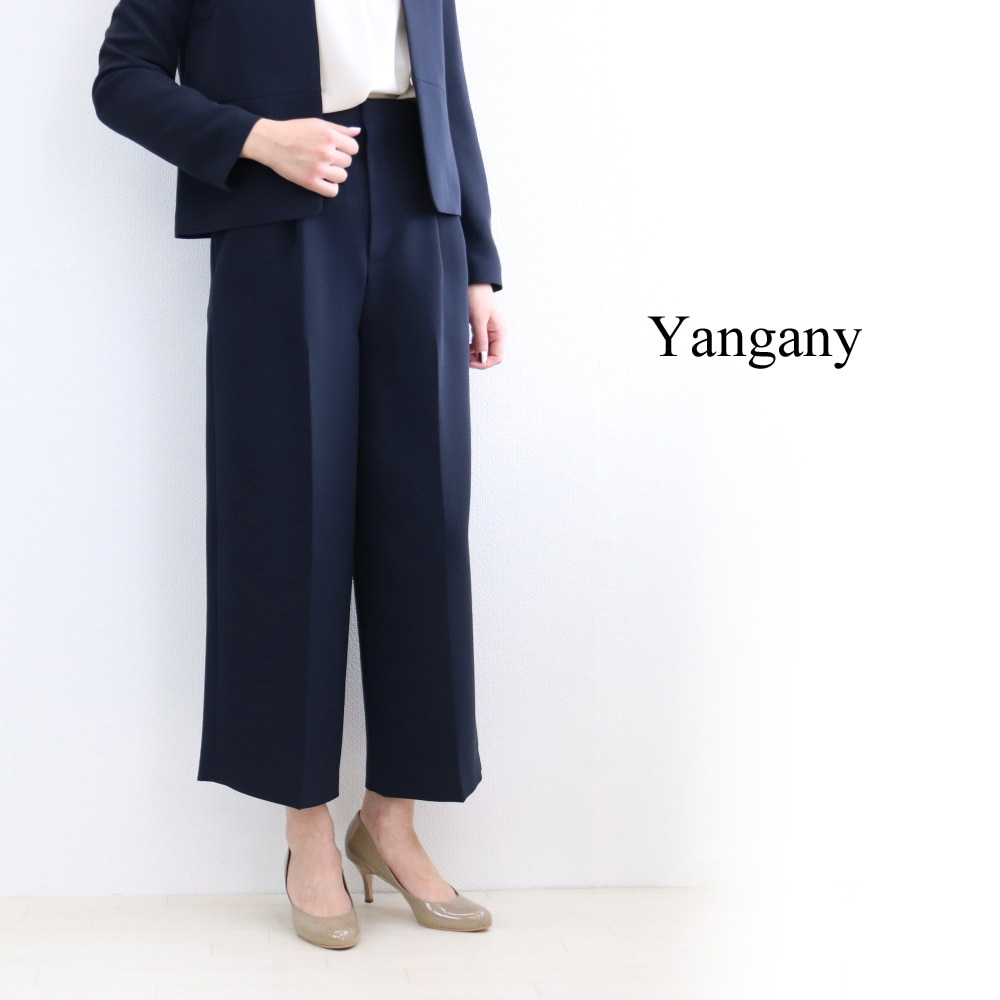 ヤンガニー ジャケット ダブルクロス ノーカラー スーツ