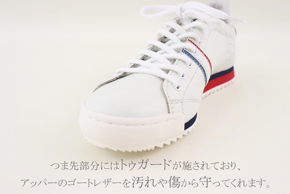 GSTAD(グスタード) ゴートレザー ホワイト スニーカー