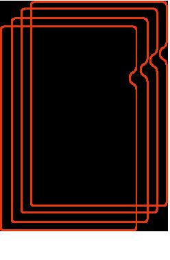 クリアファイル4種印刷