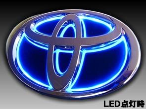 プリウス50系専用 LEDトランスエンブレム(リア)