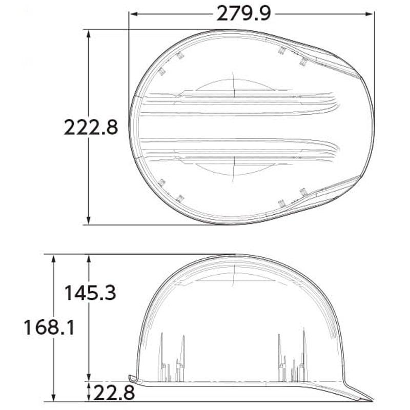 サイズ:224(W)×168(H)×280(D)mm