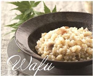 玄米リゾット和風
