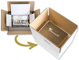 プリン研究所の商品用オジナルBOX