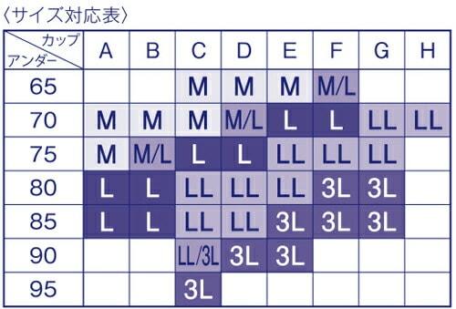 ワコールBra155サイズ表