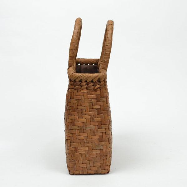 山葡萄鞄高級かごバッグ小さめ内布付
