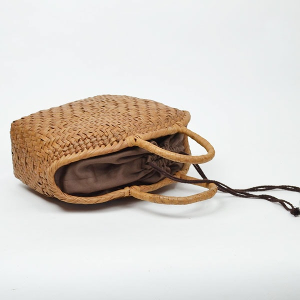 山葡萄鞄高級かごバッグトートバッグ内布付