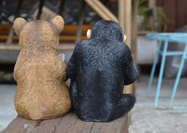 チアフルフレンズクマのハーマンチンパンジーのアーネスト