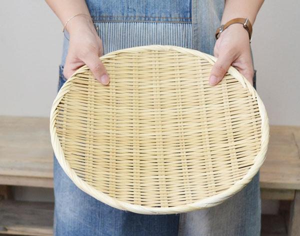 竹ざる直径30cm古き日本の道具天然素材干しざる