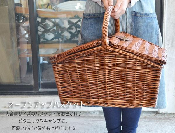 【送料無料】オープンアップバスケットフタ付き収納