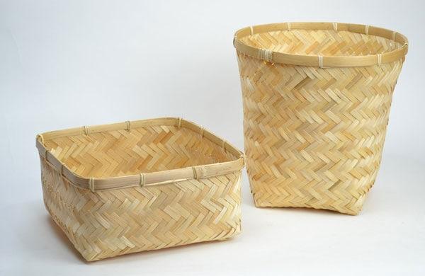 【送料無料】竹かごスクエアバンブー小物収納和