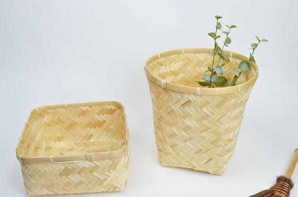 【送料無料】竹かご筒バンブー小物収納和
