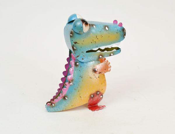 カラフルブリキ恐竜カラーブリキ置物飾りディスプレイ