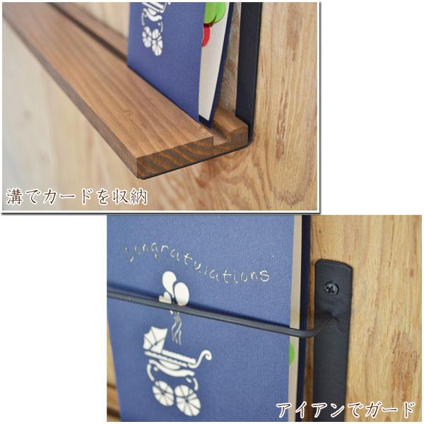 おしゃれな木製壁掛けカードホルダー L ショップやお店にも