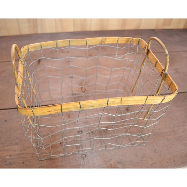 おしゃれなワイヤーバスケット ランドリー S 洗濯かご、洗濯物・タオルを収納