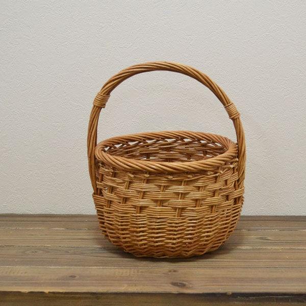 ウィッカーラウンドバスケットSサイズ収納ピクニック