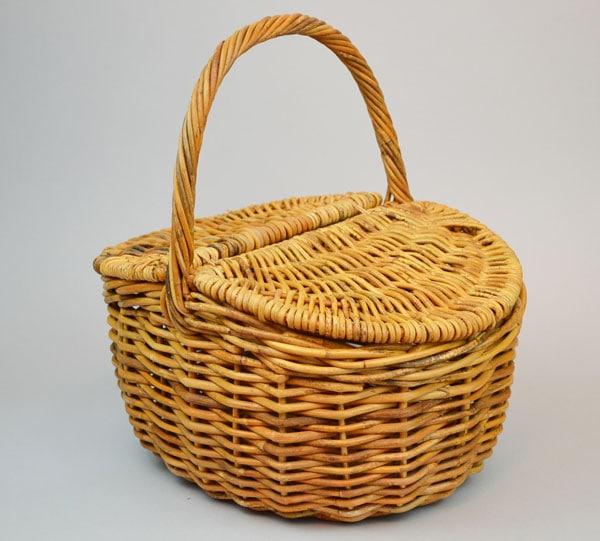 アラログピクニックバスケットランチバッグふた付き