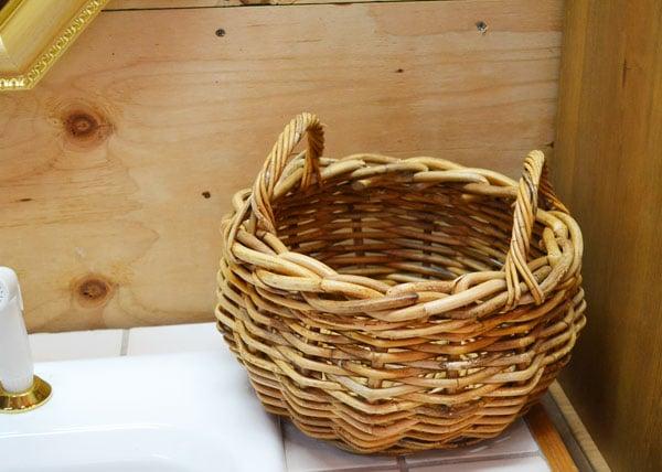 アラログ製2ハンドルフルーツバスケット おしゃれなアンティーク風二本手かご