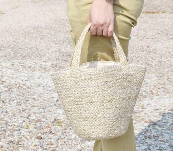ジュートかごバッグSサイズ天然素材麻