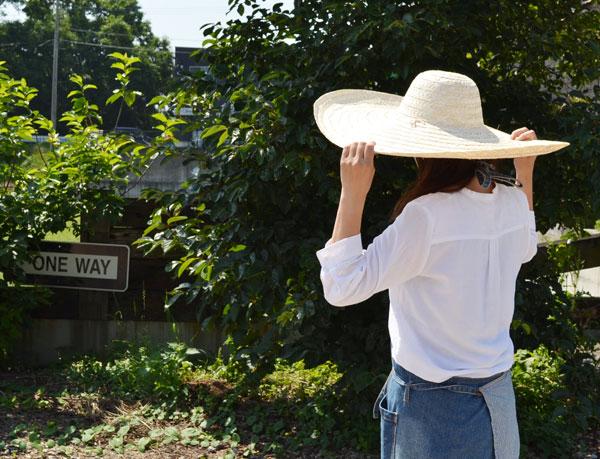 【送料無料】竹帽子日よけぼうしシンプルつば広