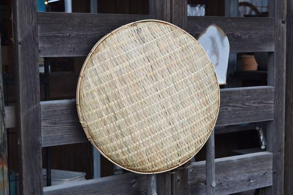 竹干しざる【2セット】皮竹材料ござ目竹製