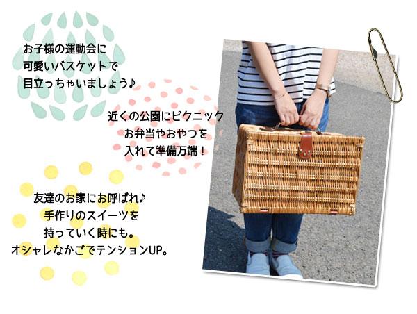 ピクニックバスケットトランク型保冷保温シート付煮柳