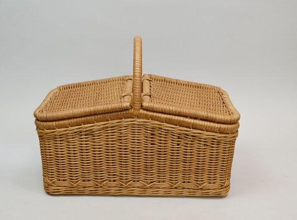 【送料無料】ラタンピクニックバスケット籐かご