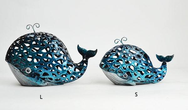 カラフルブリキクジラSサイズブルー個性的オシャレ
