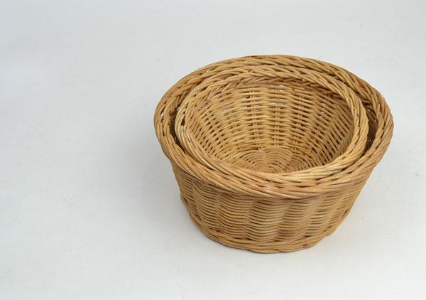 ラタン丸かごLサイズサークル籐ベトナム製