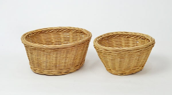 ラタン丸かごSサイズサークルベトナム製小物収納