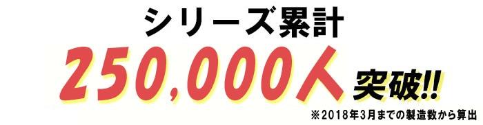 シリーズ累計25万人突破