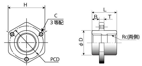 パネル/トップタッチ寸法図